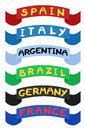 Ribbons countries creative design of Stock Photos