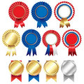 Ribbons Rosette Badge Stock Images