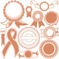 Ribbons seals collection clip art of various types of and Stock Images