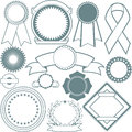 Ribbons seals collection clip art of various types of and Royalty Free Stock Image
