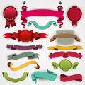 Ribbons set of colorful illustration Royalty Free Stock Image