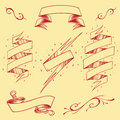 Ribbons set element vector for use Stock Images