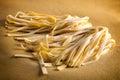 Ribbons of tagliatelle pasta Royalty Free Stock Photo