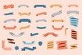 Ribbons vector set Royalty Free Stock Photo