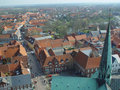 Ribe, from above Royalty Free Stock Photo