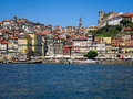 Ribeira district in porto the quay alongside douro river portugal Stock Photo