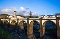 Ribeira grande on the island st miguel on the acores Stock Image