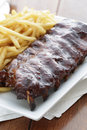 Ribs meal Stock Photo