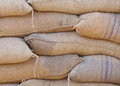 Rice in bag from warehouse Royalty Free Stock Photo