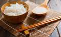 The rice on bamboo mat Royalty Free Stock Photo