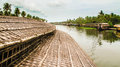 Rice barge kerala view of a river water ways from a tourist in india Royalty Free Stock Images