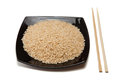 Rice in bowl and chopsticks Royalty Free Stock Photos