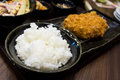 Rice in bowl a at restaurant Royalty Free Stock Photos