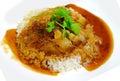Rice crispy pork Stock Photography