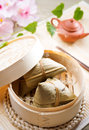Rice dumpling or zongzi traditional steamed sticky glutinous dumplings chinese food dim sum asian cuisine Royalty Free Stock Image