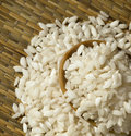 Rice, Fig-round for meals Royalty Free Stock Photos