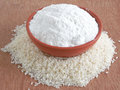 Rice flour in a bowl Royalty Free Stock Photography