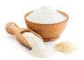 Rice flour  on white Royalty Free Stock Photo
