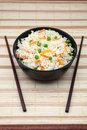 Rice fried with vegetables in a bowl Royalty Free Stock Photos