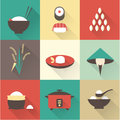 Rice icons vector this is file of eps format Stock Photos