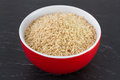 Rice integral in red bowl Stock Photography