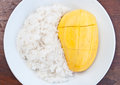 Rice and mango Royalty Free Stock Image