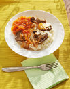 Rice with meat and stewed vegetables Royalty Free Stock Photos
