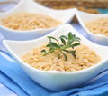 Rice noodles some white in a bowl Royalty Free Stock Image