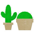 Rice paper cut cactus Royalty Free Stock Photos