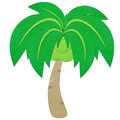 Rice paper cut coconut tree Royalty Free Stock Photos