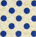 Rice paper texture blue polka dots xxxxl Stock Images