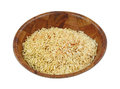 Rice and pasta dry mix angle a dried of seasoned in a wooden bowl on a white background Royalty Free Stock Image