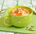 Rice with pumpkin Royalty Free Stock Photos