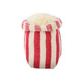 Rice in red and white sackcloth bags isolated Royalty Free Stock Photo