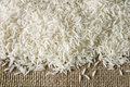 Rice on sacking Royalty Free Stock Photo