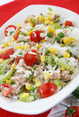 Rice salad with tuna Stock Photos