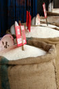Rice for sale Royalty Free Stock Photo
