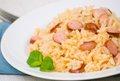 Rice with sausage Royalty Free Stock Photos