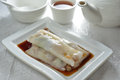 Rice sheet Pork meat roll Royalty Free Stock Photo