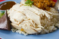 Rice steamed with chicken soup Royalty Free Stock Images