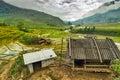 Rice Terrace mountain village in Sapa, Lao cai, Vietnam Royalty Free Stock Photo