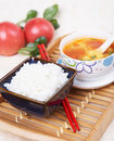Rice and vegetable soup Royalty Free Stock Images