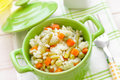 Rice with vegetables in a bowl Stock Photo
