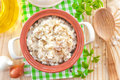 Rice with vegetables and meat in a bowl Royalty Free Stock Photo