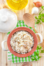 Rice with vegetables and meat in a bowl Royalty Free Stock Photos
