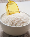 Rice on white background close up Royalty Free Stock Photography