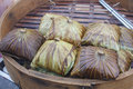 Rice wrapped in lotus leaf on sale Royalty Free Stock Photo