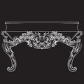 Rich Baroque commode Table with drawers