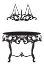 Rich Baroque commode Table and lamp