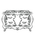 Rich Baroque Dressing Table with drawers
